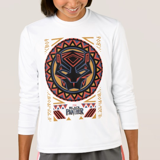 Black Panther Tribal Head Girls' Sport-Tek Competitor Long Sleeve T-Shirt