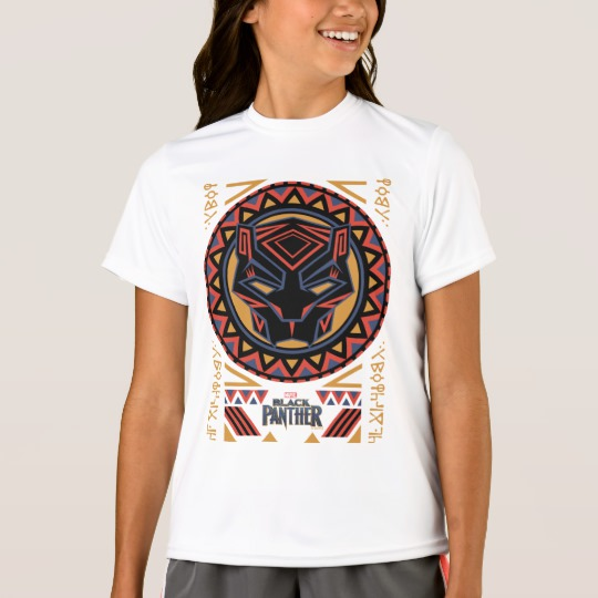 Black Panther Tribal Head Girls' Sport-Tek Competitor T-Shirt