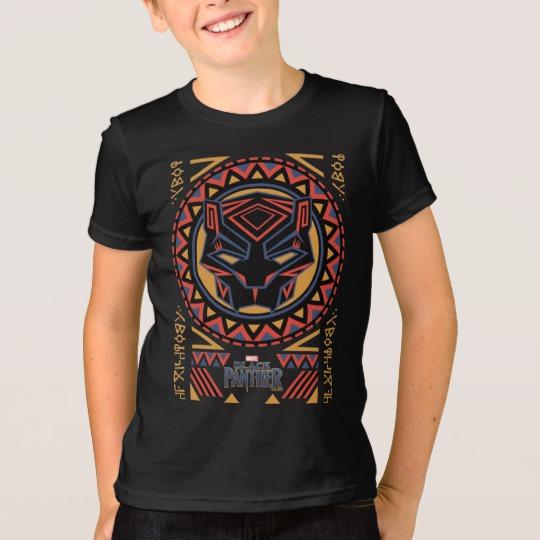Black Panther Tribal Head Kids' American Apparel Fine Jersey T-Shirt