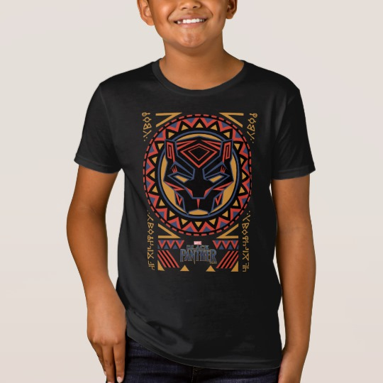 Black Panther Tribal Head Kids' American Apparel Organic T-Shirt
