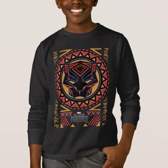 Black Panther Tribal Head Kids' Basic Long Sleeve T-Shirt