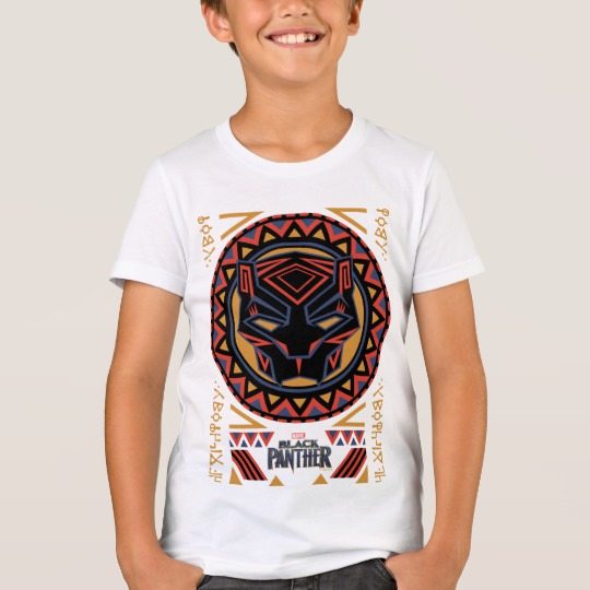 Black Panther Tribal Head Kids' Bella+Canvas Crew T-Shirt