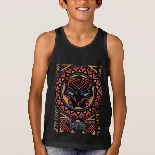 Black Panther Tribal Head Kids' Bella+Canvas Jersey Tank Top