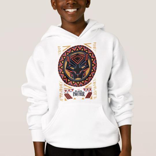 Black Panther Tribal Head Kids' Hanes ComfortBlend® Hoodie