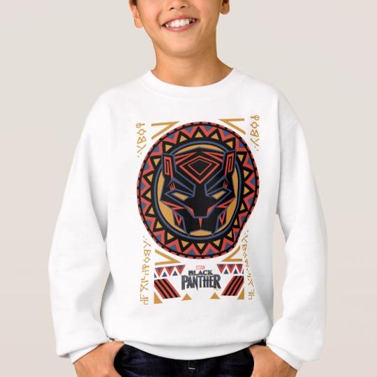 Black Panther Tribal Head Kids' Hanes ComfortBlend® Sweatshirt