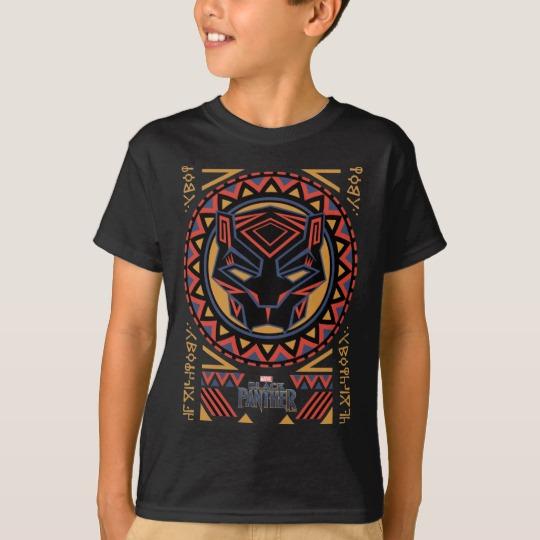 Black Panther Tribal Head Kids' Hanes TAGLESS® T-Shirt