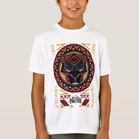 Black Panther Tribal Head Kids' Sport-Tek Competitor T-Shirt