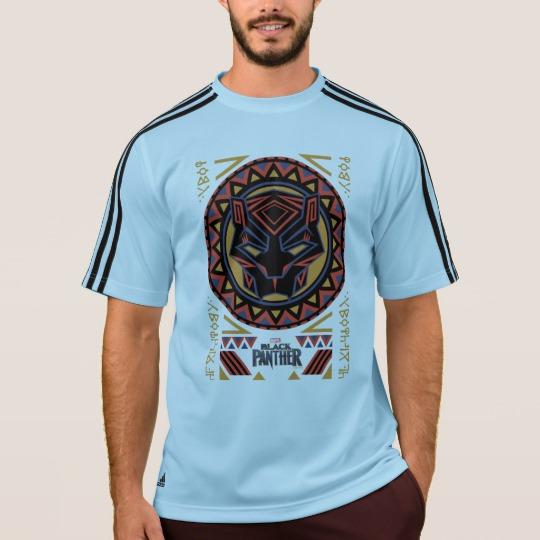Black Panther Tribal Head Men's Adidas ClimaLite® T-Shirt