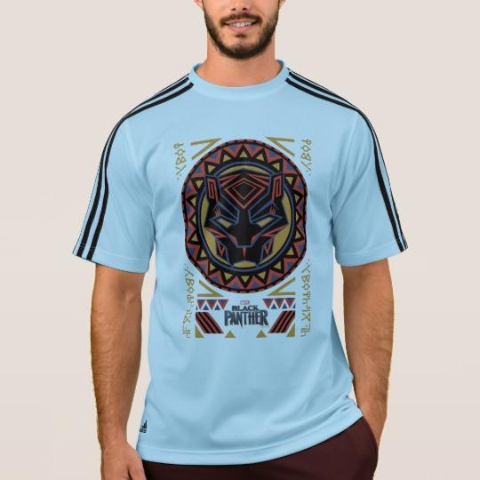 Black Panther Tribal Head Men's Adidas ClimaLite® T-Shirt