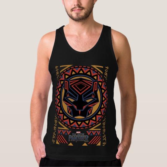 Black Panther Tribal Head Men's American Apparel Fine Jersey Tank Top