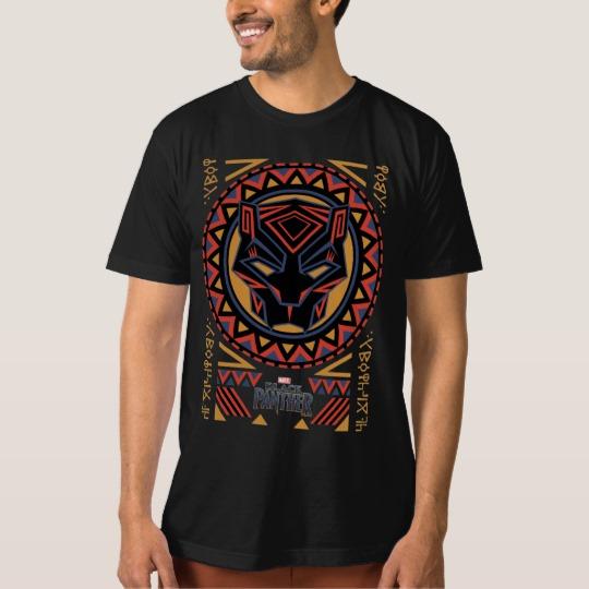 Black Panther Tribal Head Men's American Apparel Organic T-Shirt