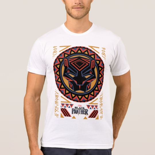 Black Panther Tribal Head Men's American Apparel Poly-Cotton Blend T-Shirt