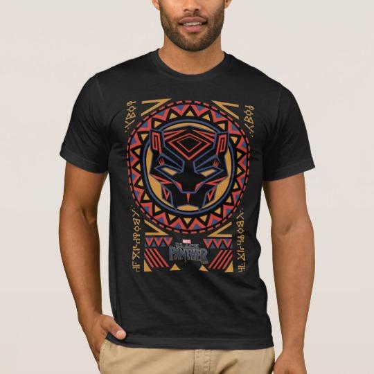 Black Panther Tribal Head Men's Basic American Apparel T-Shirt