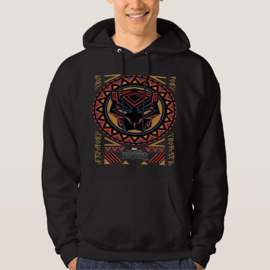 Black Panther Tribal Head Men's Basic Hooded Sweatshirt