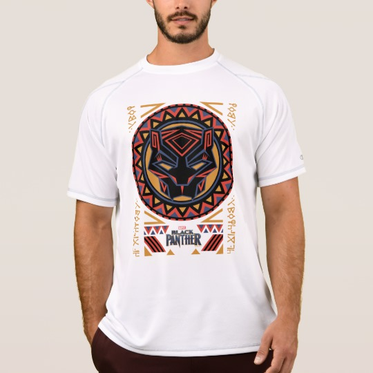 Black Panther Tribal Head Men's Champion Double Dry Mesh T-Shirt