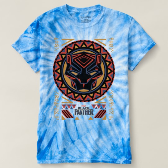 Black Panther Tribal Head Men's Cyclone Tie-Dye T-Shirt