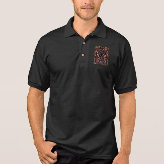 Black Panther Tribal Head Men's Gildan Jersey Polo Shirt