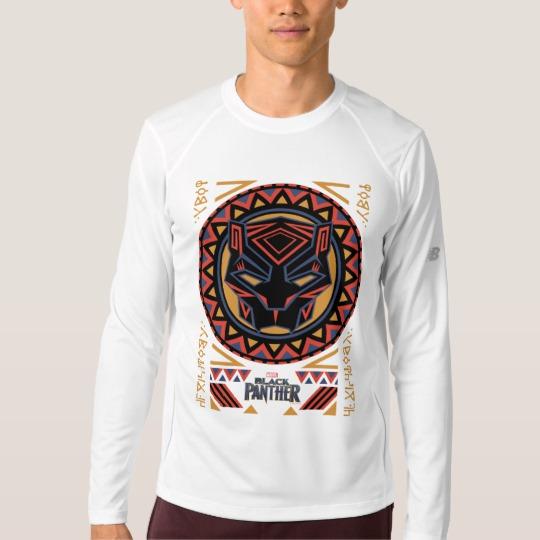 Black Panther Tribal Head Men's New Balance Long Sleeve T-Shirt