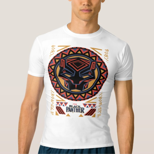 Black Panther Tribal Head Men's Performance Compression T-Shirt