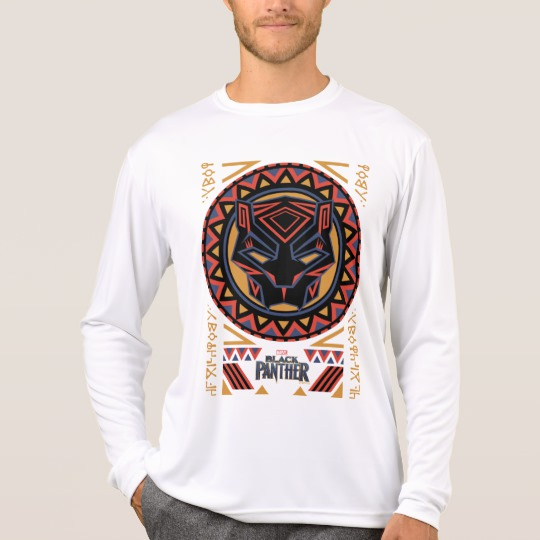 Black Panther Tribal Head Men's Sport-Tek Competitor Long Sleeve T-Shirt