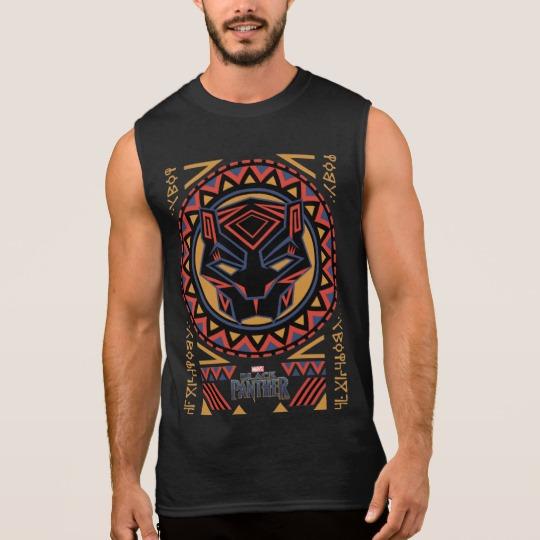 Black Panther Tribal Head Men's Ultra Cotton Sleeveless T-Shirt
