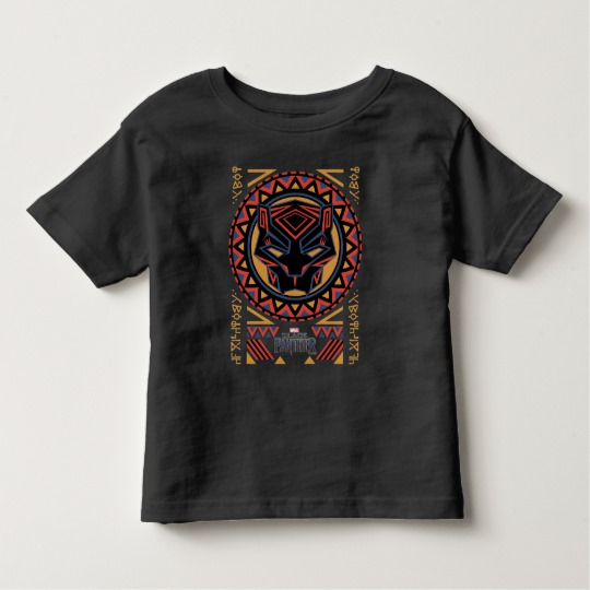 Black Panther Tribal Head Toddler Fine Jersey T-Shirt