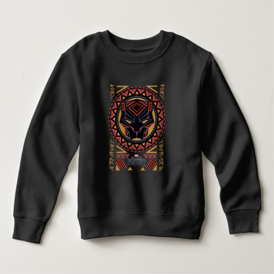 Black Panther Tribal Head Toddler Fleece Sweatshirt