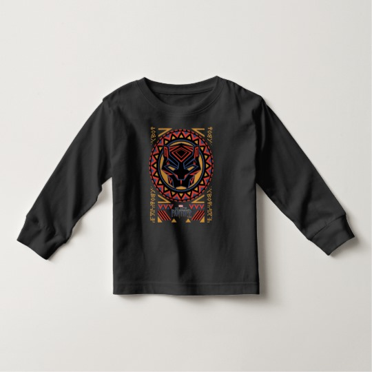 Black Panther Tribal Head Toddler Long Sleeve T-Shirt