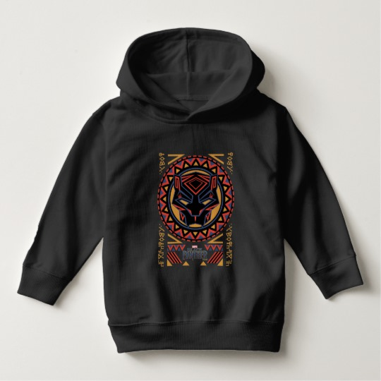 Black Panther Tribal Head Toddler Pullover Hoodie
