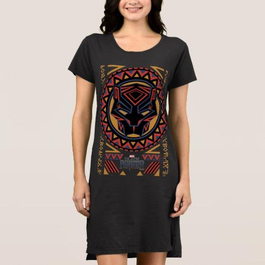 Black Panther Tribal Head Women's Alternative Apparel T-Shirt Dress