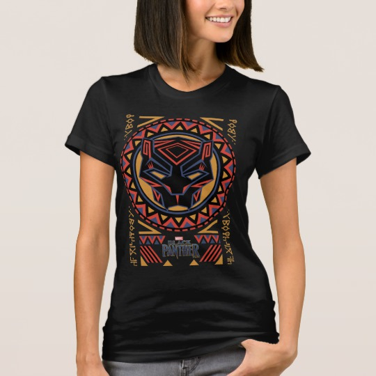 Black Panther Tribal Head Women's American Apparel Fine Jersey T-Shirt
