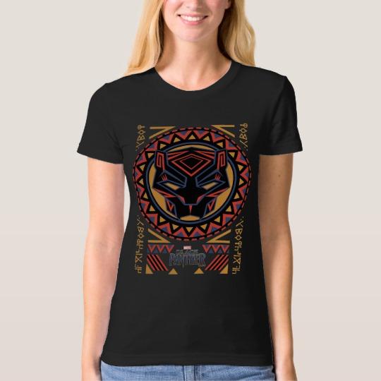 Black Panther Tribal Head Women's American Apparel Organic T-Shirt