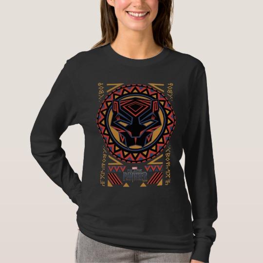 Black Panther Tribal Head Women's Basic Long Sleeve T-Shirt