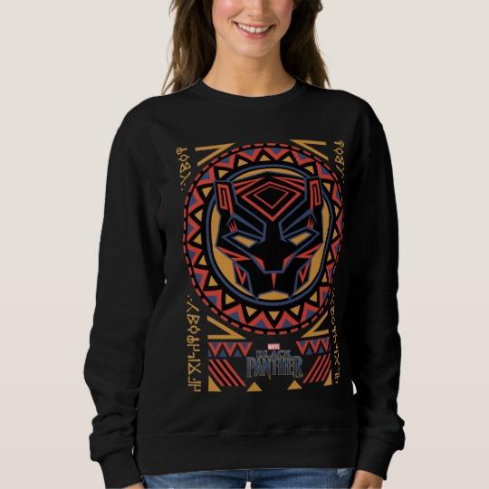 Black Panther Tribal Head Women's Basic Sweatshirt