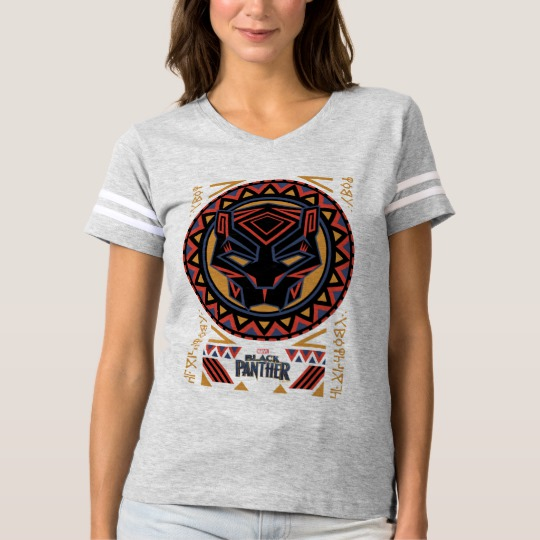 Black Panther Tribal Head Women's Basic T-Shirt