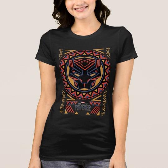 Black Panther Tribal Head Women's Bella+Canvas Favorite Jersey T-Shirt