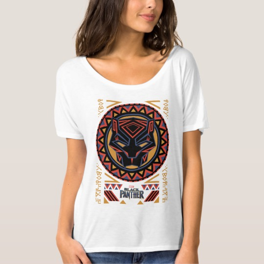 Black Panther Tribal Head Women's Bella+Canvas Slouchy Boyfriend T-Shirt
