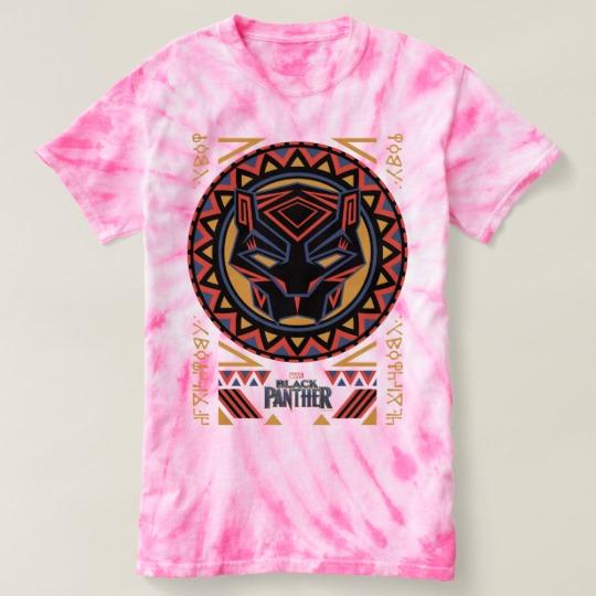 Black Panther Tribal Head Women's Cyclone Tie-Dye T-Shirt
