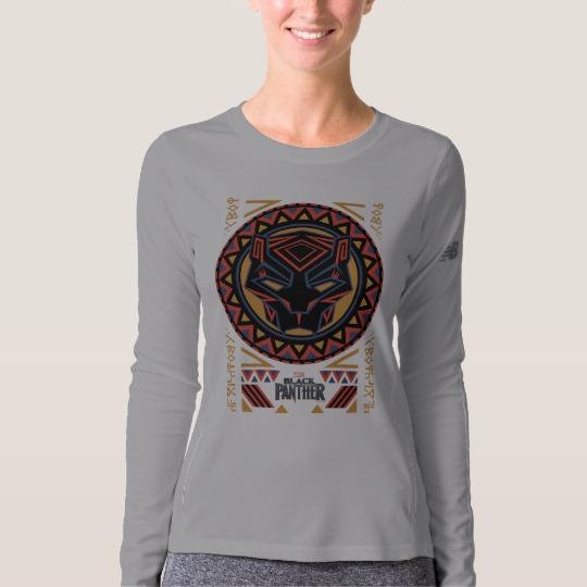 Black Panther Tribal Head Women's New Balance Long Sleeve T-Shirt