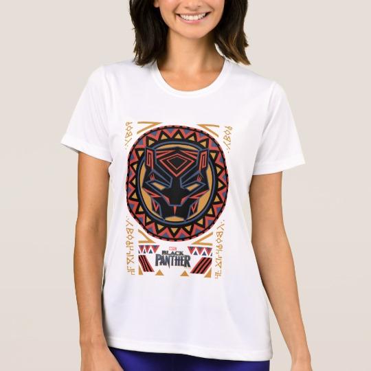 Black Panther Tribal Head Women's Sport-Tek Competitor T-Shirt