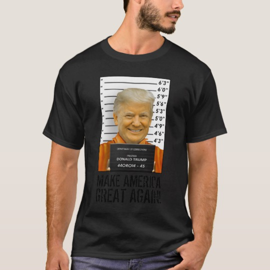 Trump Prison Mugshot MAGA Basic Dark T-Shirt