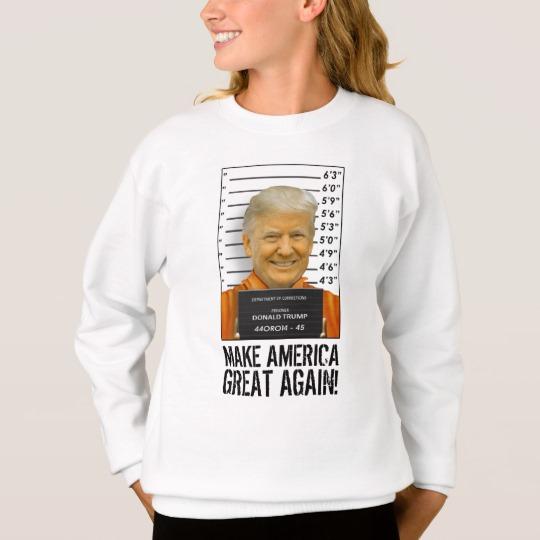 Trump Prison Mugshot MAGA Girls' Hanes ComfortBlend® Sweatshirt