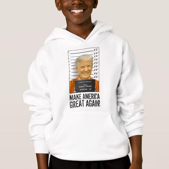 Trump Prison Mugshot MAGA Kids' Hanes ComfortBlend® Hoodie