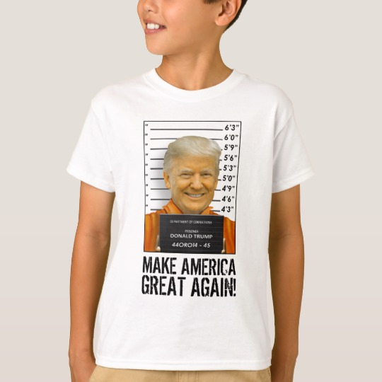 Trump Prison Mugshot MAGA Kids Basic T-Shirt