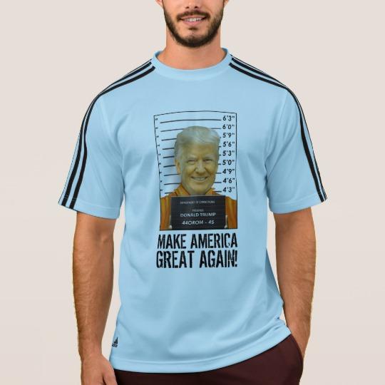 Trump Prison Mugshot MAGA Men's Adidas ClimaLite® T-Shirt