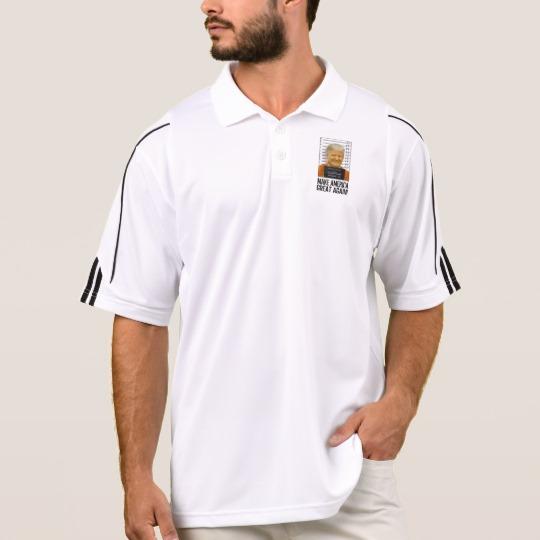 Trump Prison Mugshot MAGA Men's Adidas Golf ClimaLite® Polo Shirt