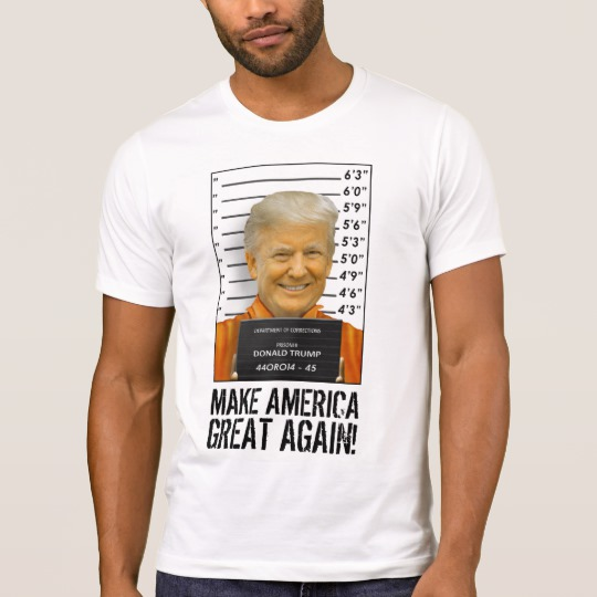 Trump Prison Mugshot MAGA Men's Alternative Apparel Crew Neck T-Shirt