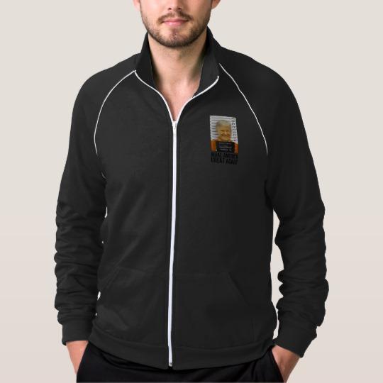 Trump Prison Mugshot MAGA Men's American Apparel California Fleece Track Jacket