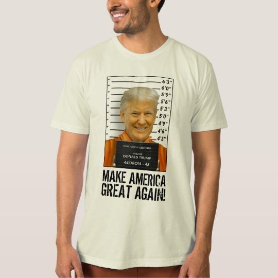 Trump Prison Mugshot MAGA Men's American Apparel Organic T-Shirt