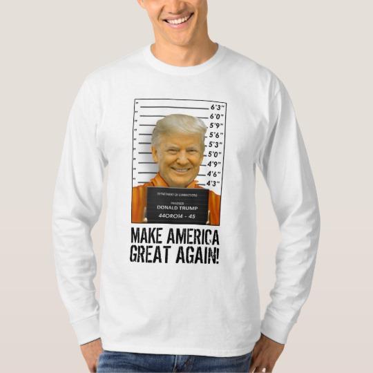 Trump Prison Mugshot MAGA Men's Basic Long Sleeve T-Shirt